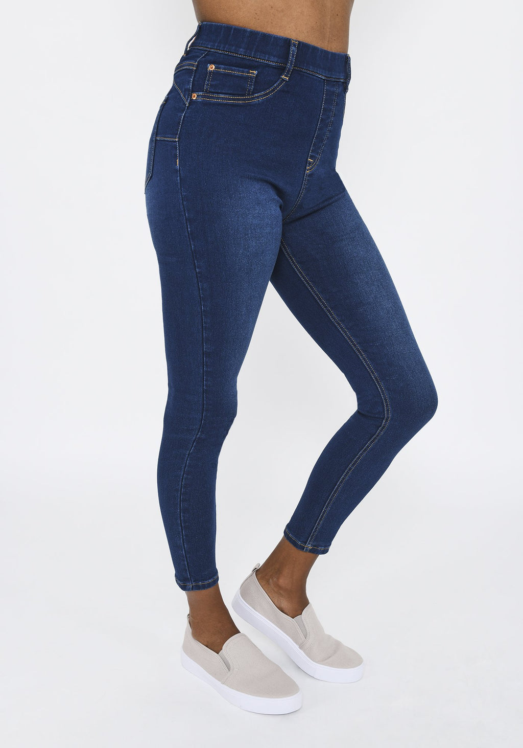 Dark Blue Ankle Grazer Jeggings