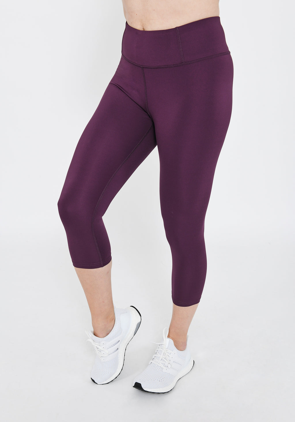 Focus Cropped Mulberry Plum Sports Leggings