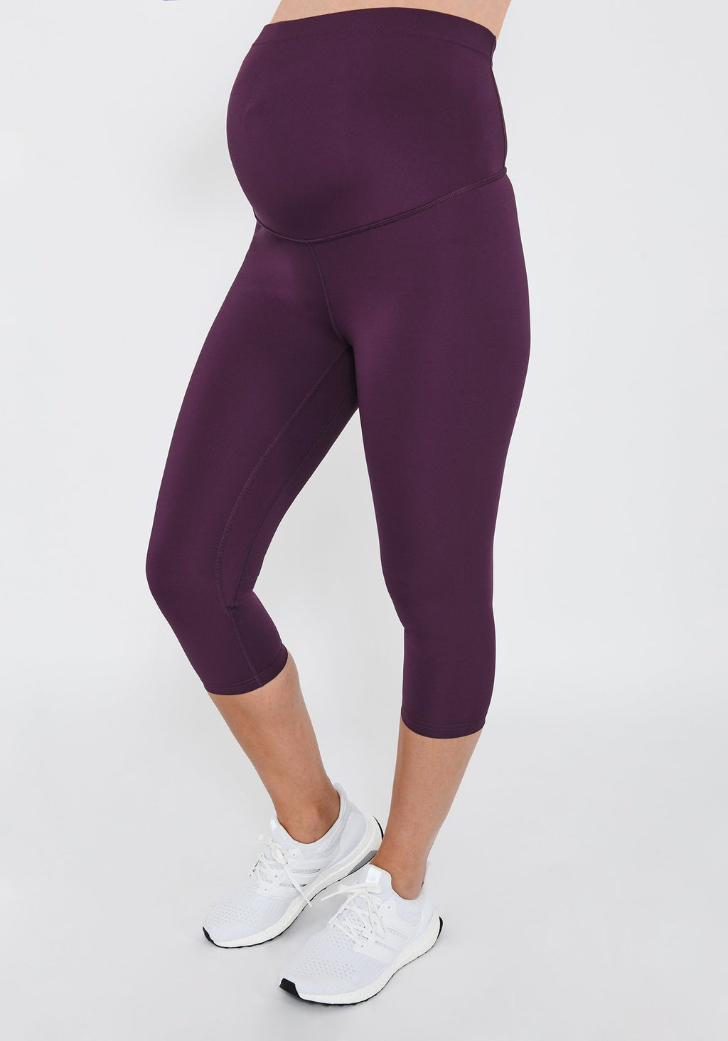 Focus Cropped Mulberry Plum Maternity Sports Leggings