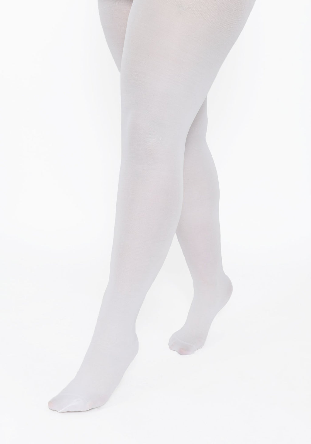 Plus Size White 40 Denier Tights