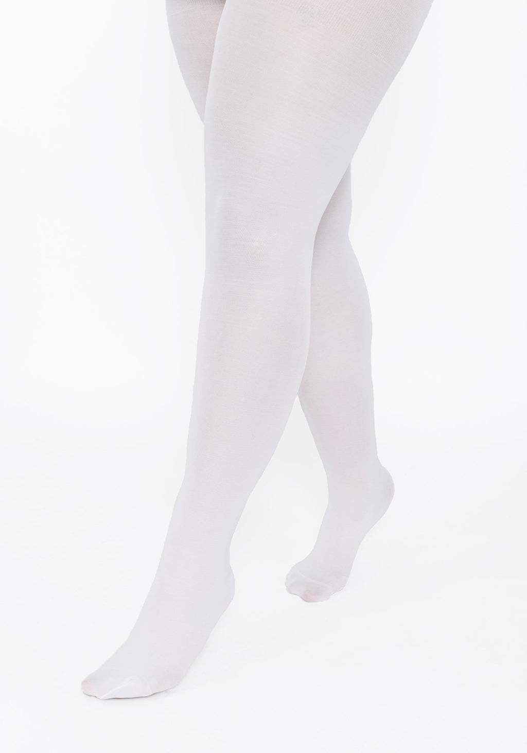 Plus Size White 60 Denier Tights
