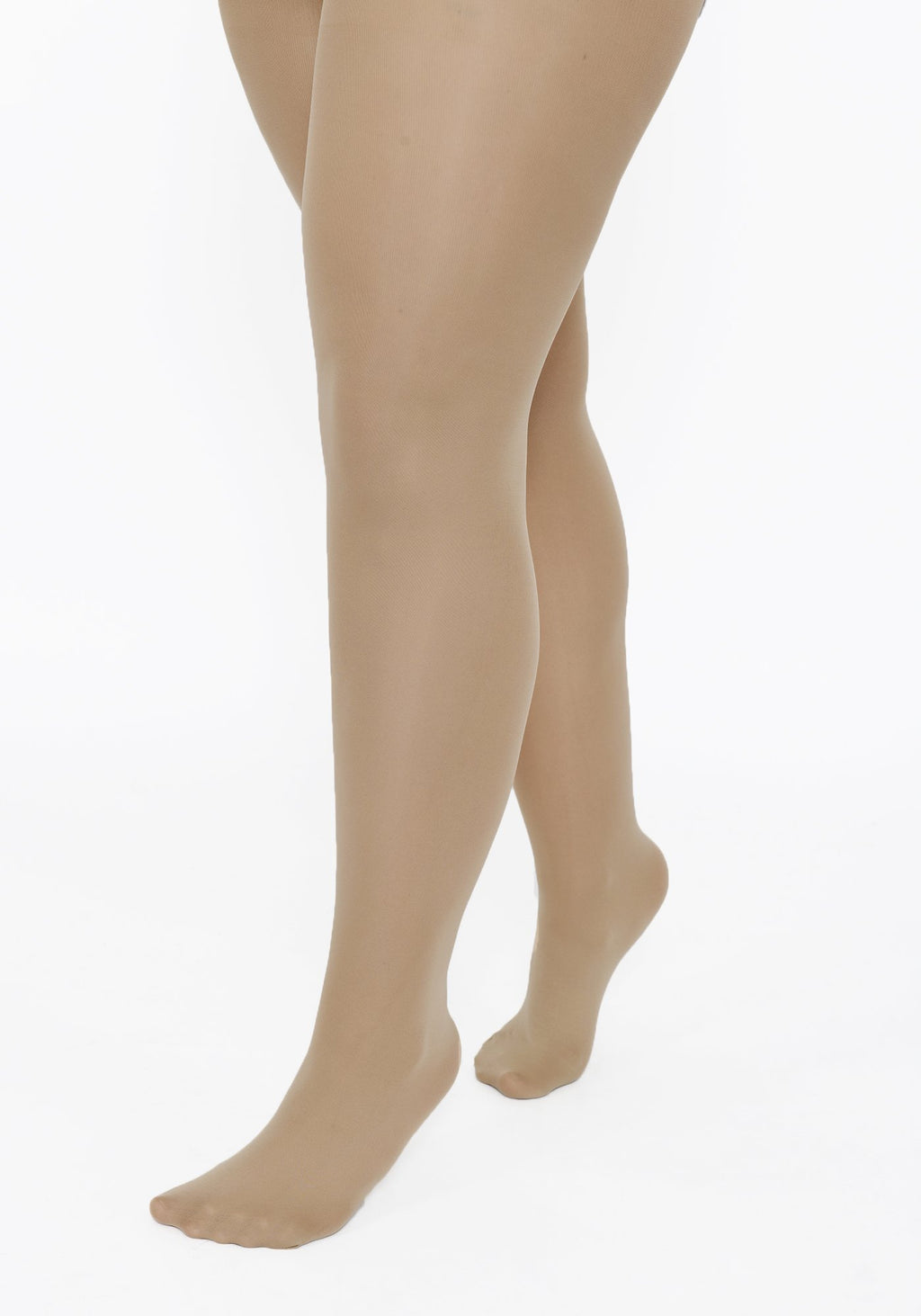 Plus Size Beige 100 Denier Tights