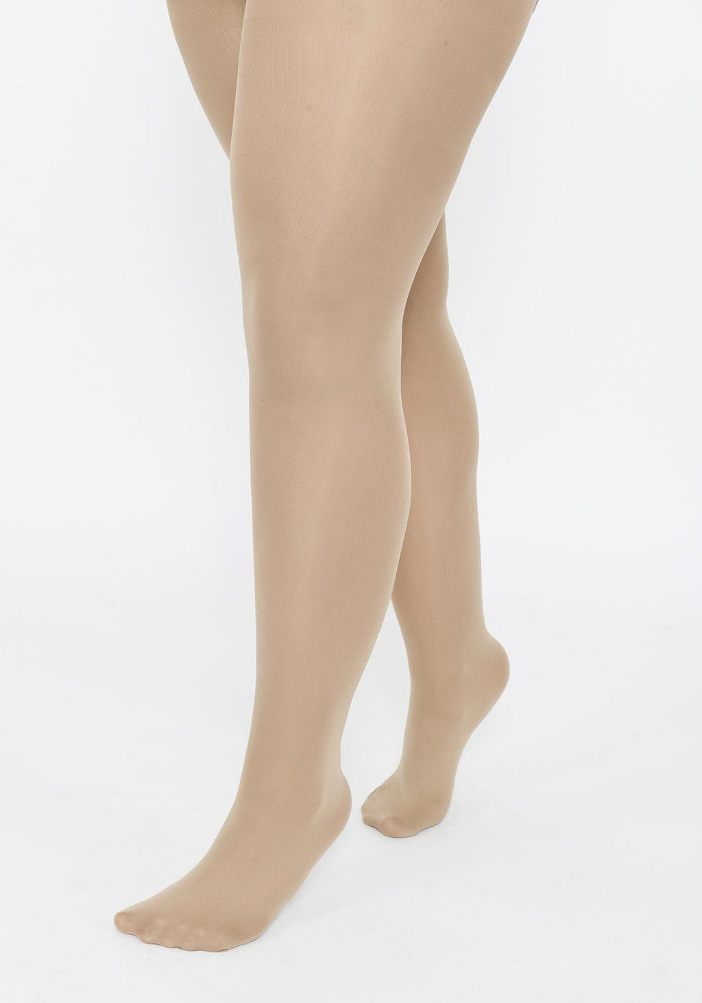 Plus Size Beige 40 Denier Tights