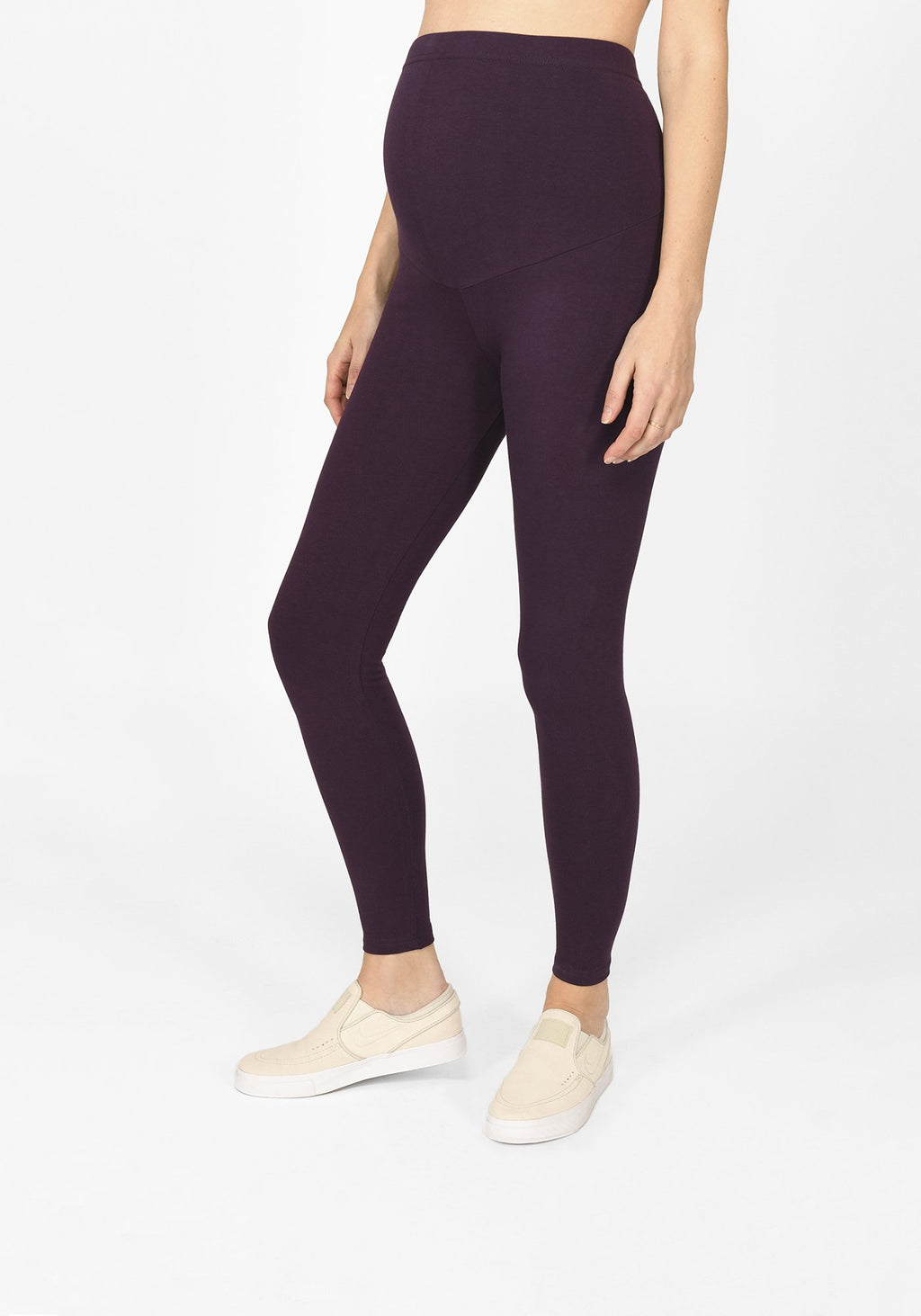 acai purple full length maternity leggings 1