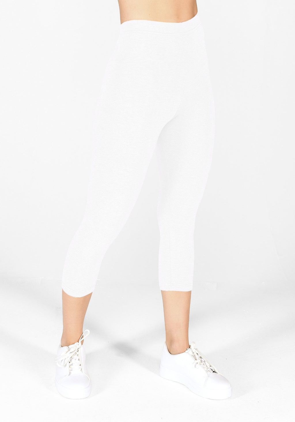 White Cropped Leggings 1