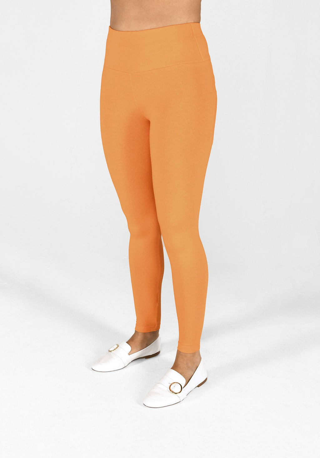 tiger orange high waisted leggings 1