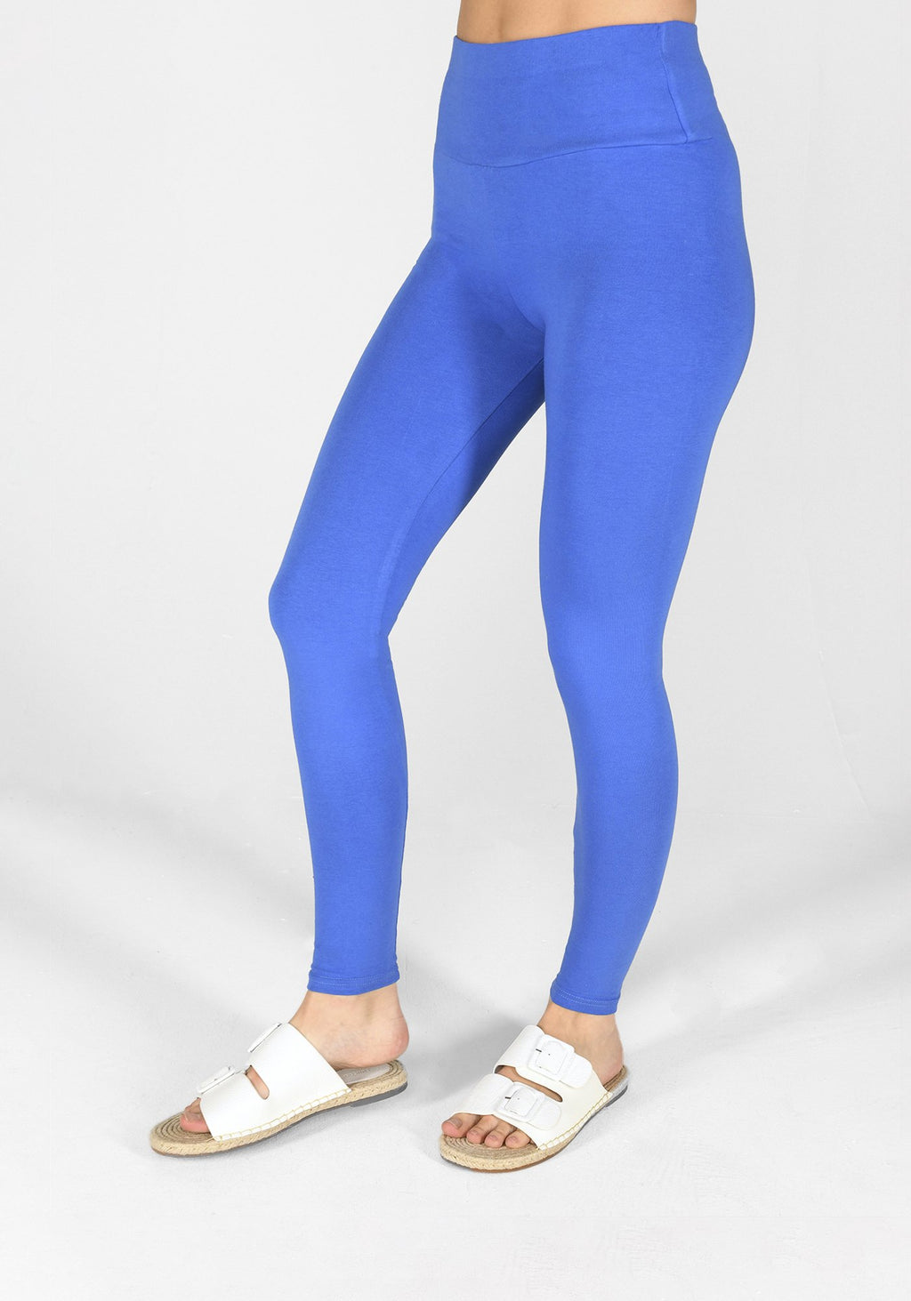true blue high waisted classic leggings 1
