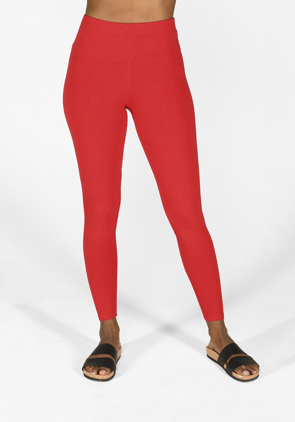 poppy red high waisted leggings 1