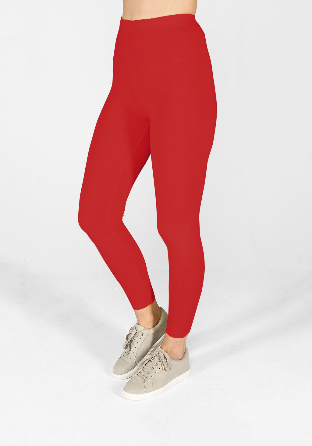 poppy red classic leggings 1