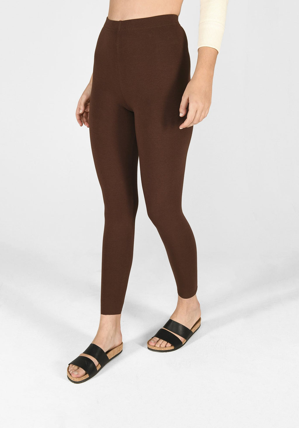 chocolate brown classic leggings 1