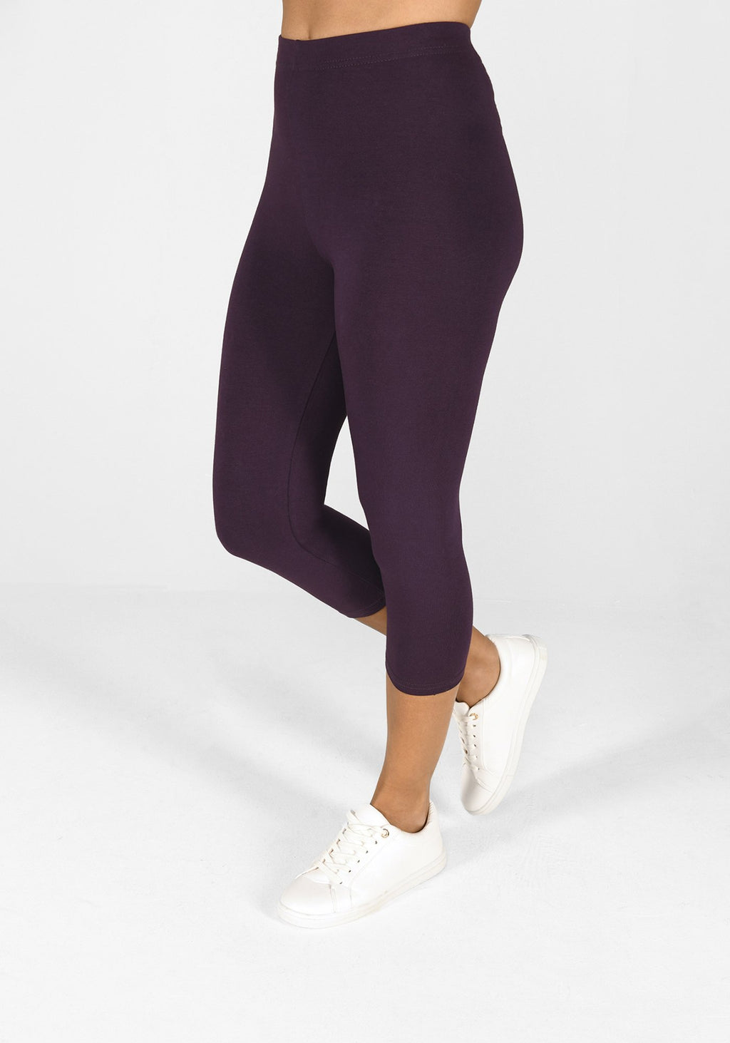 acai purple cropped classic leggings 1