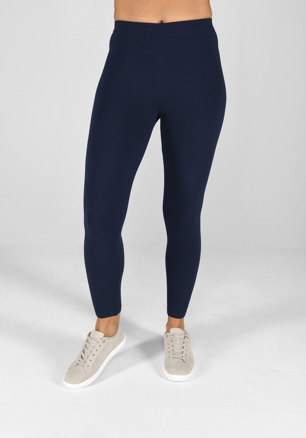 navy blue classic leggings 1