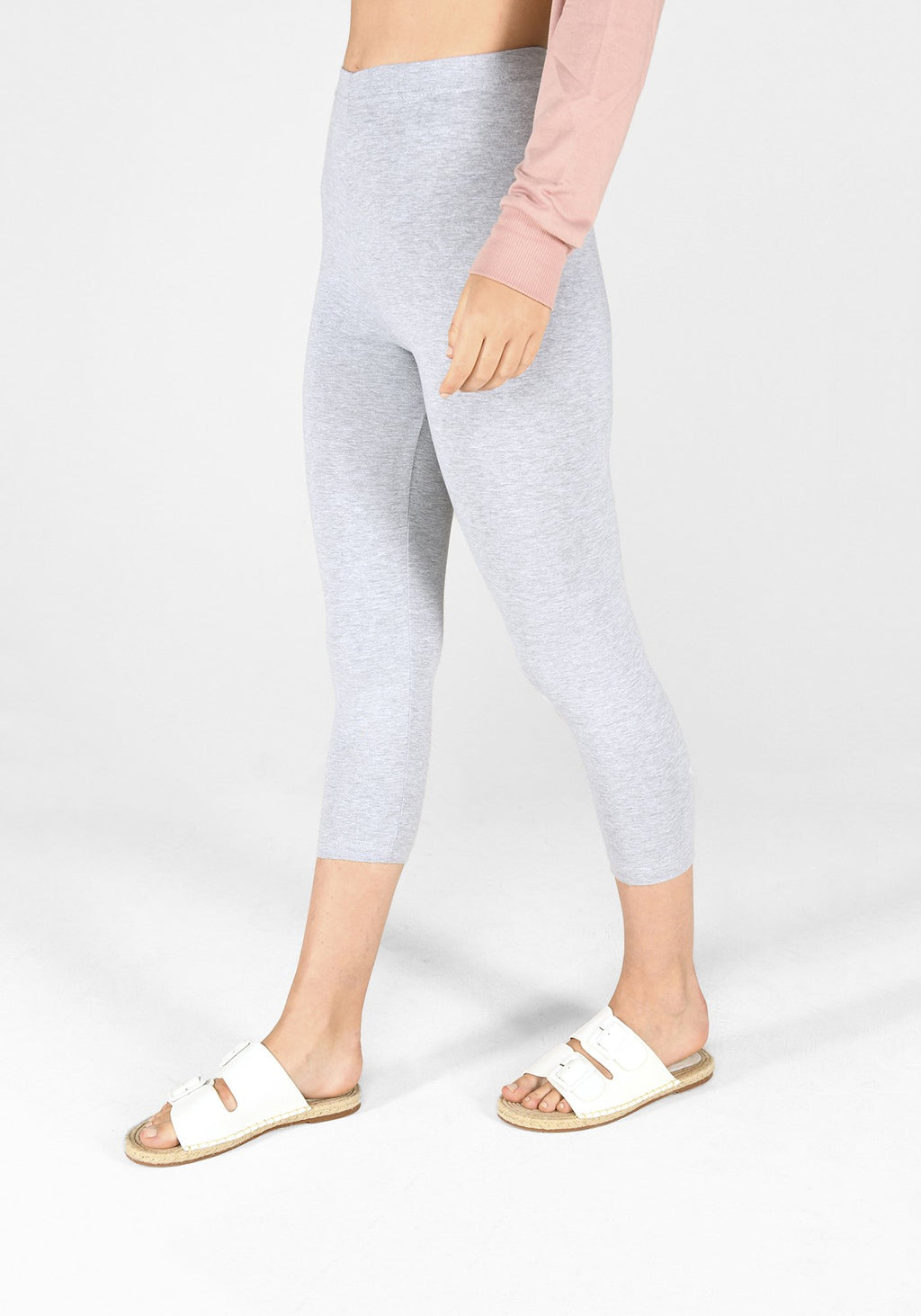light grey marl cropped leggings 1