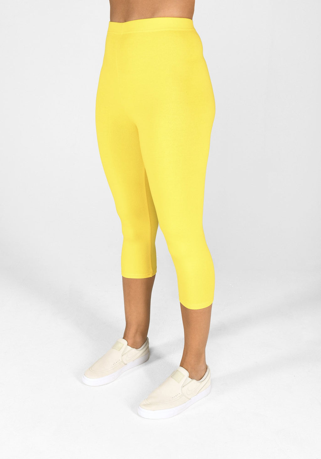 buttercup yellow cropped leggings 1