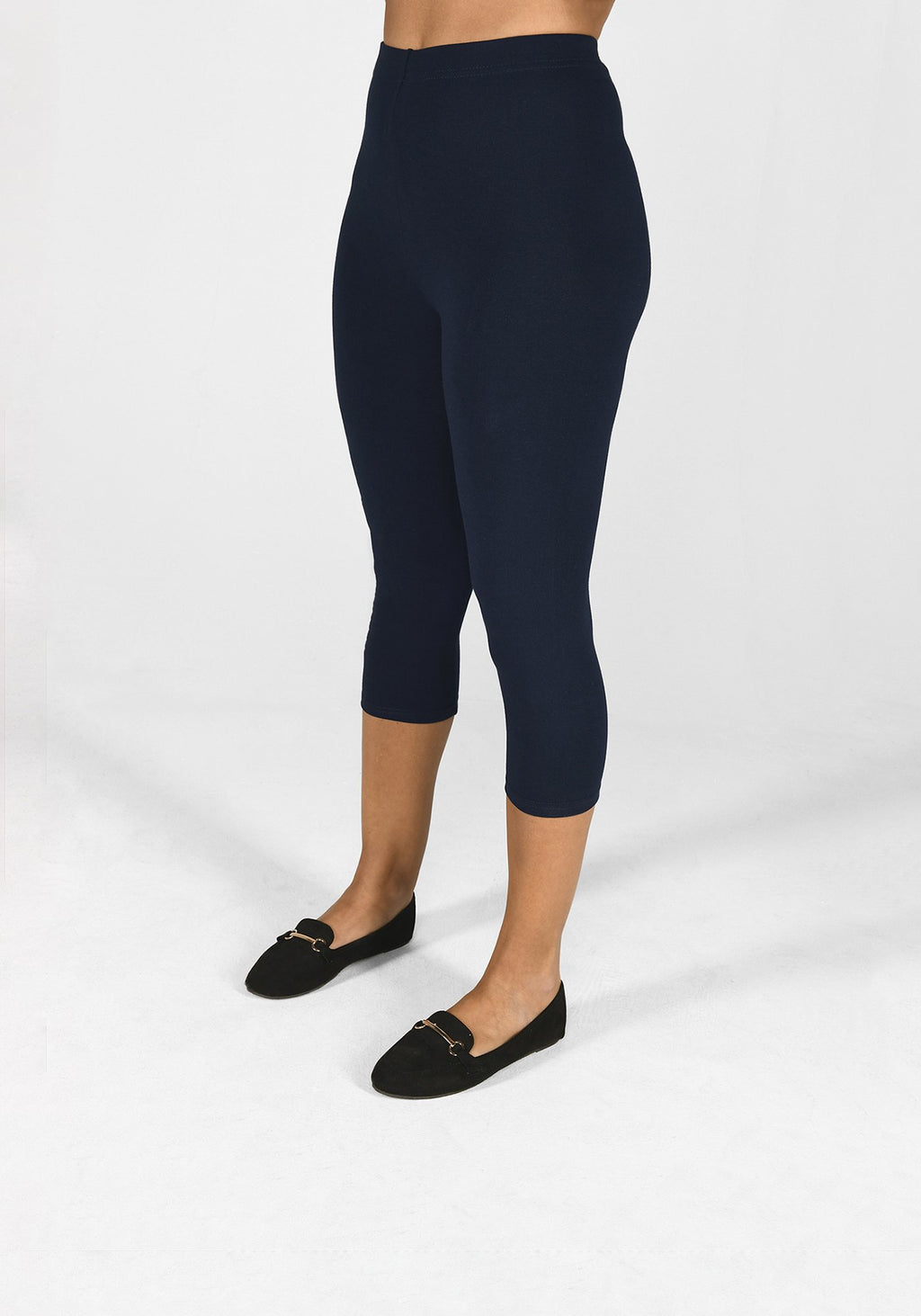 navy blue cropped leggings 1