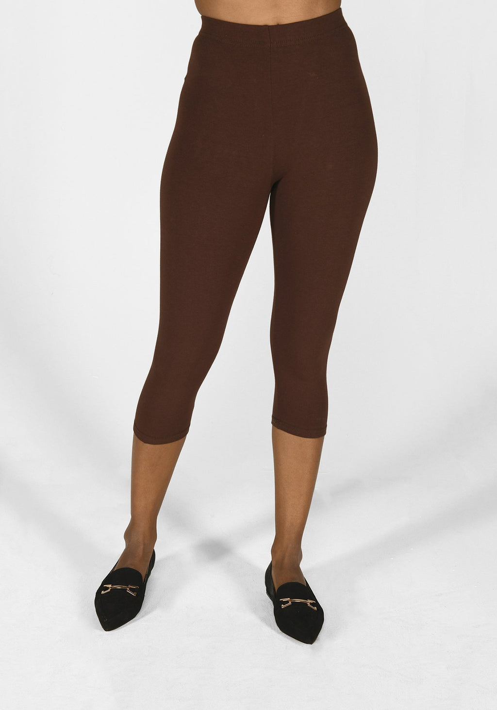 chocolate brown cropped leggings 1