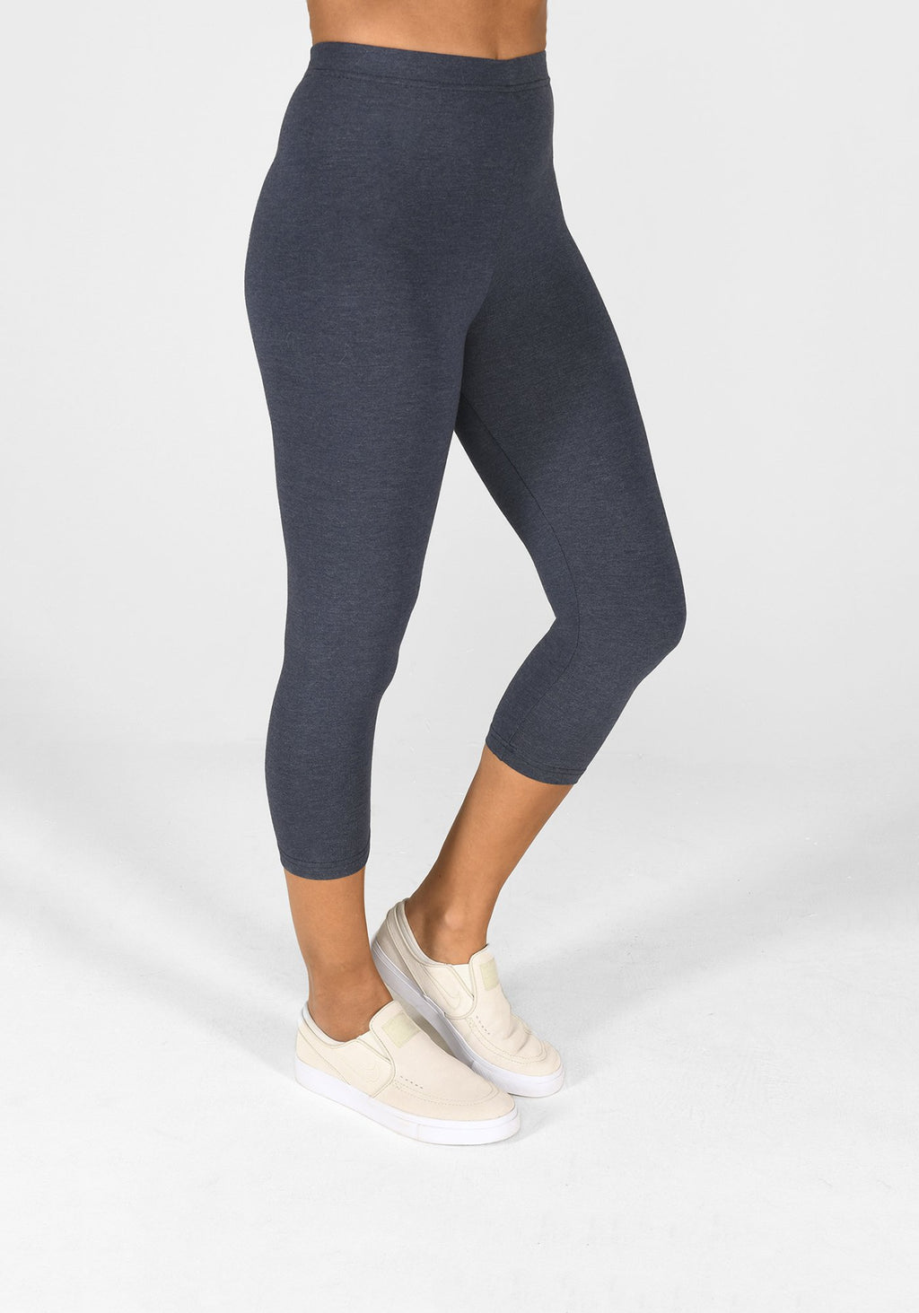 infinity blue marl cropped leggings 1
