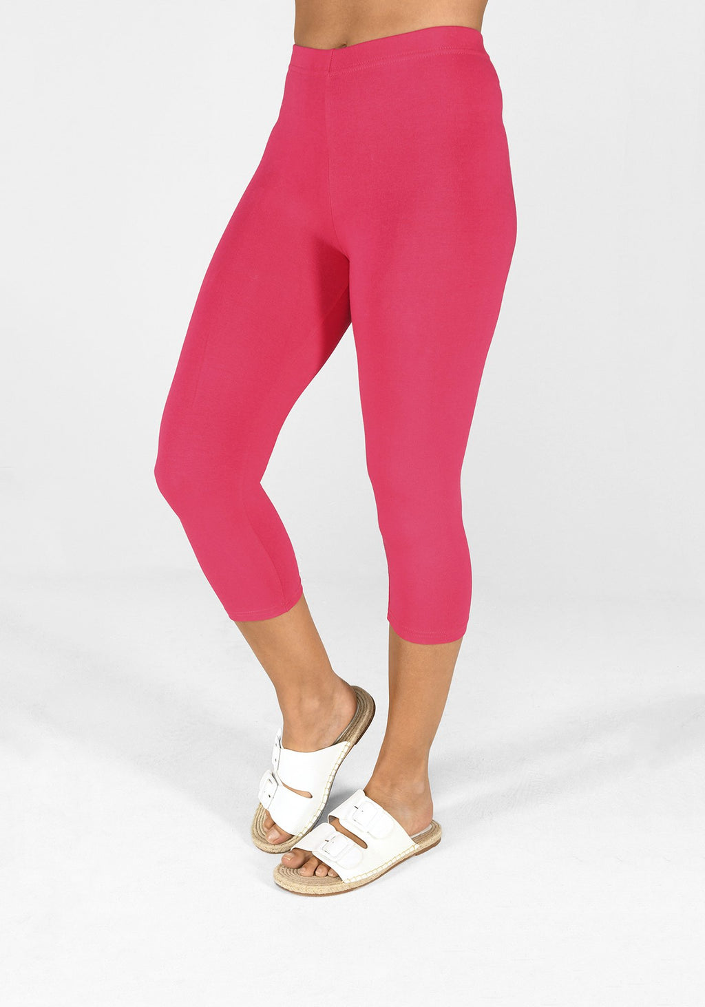 intense pink cropped leggings 1
