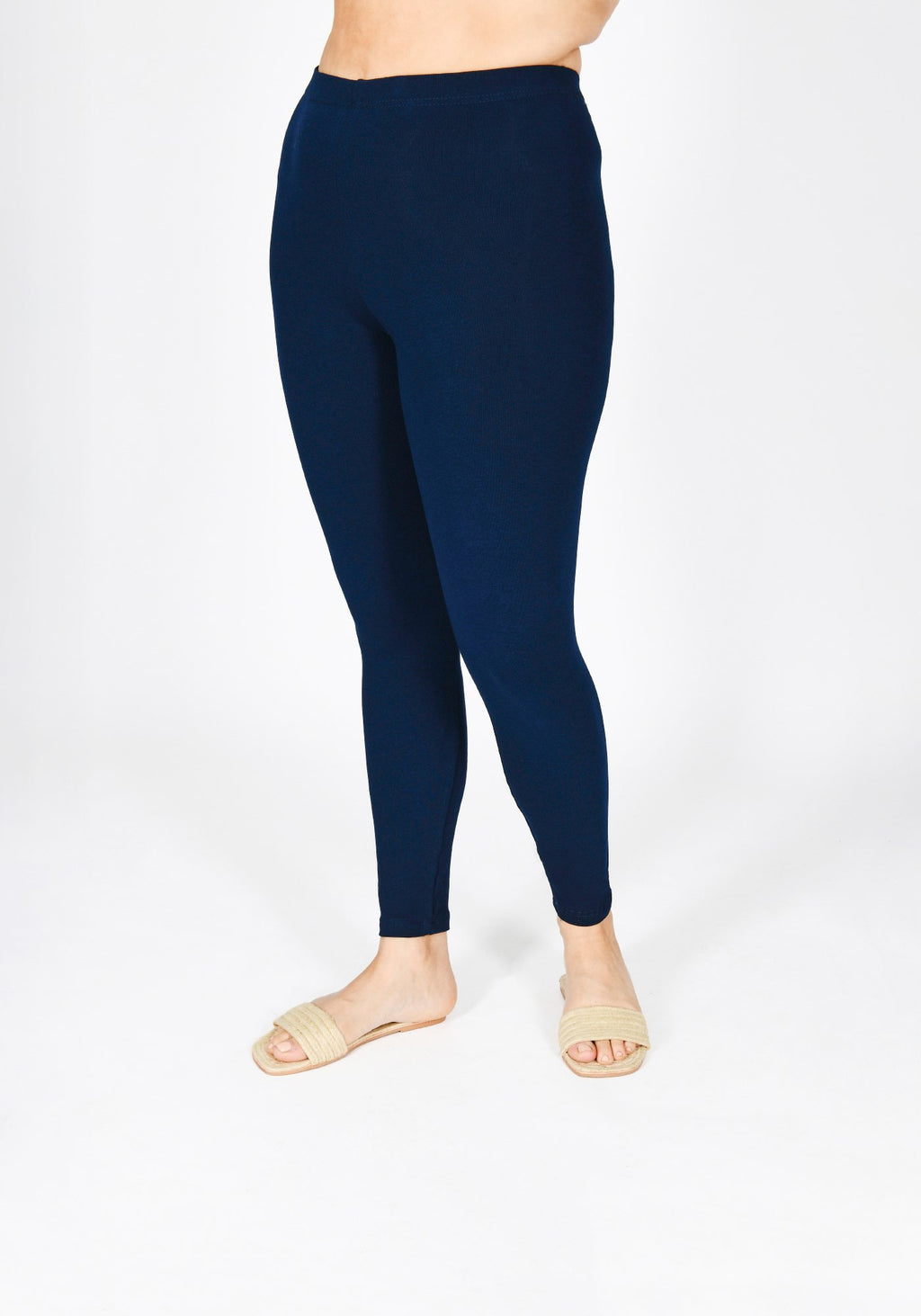 Classic Plus Size Navy Blue Leggings 1