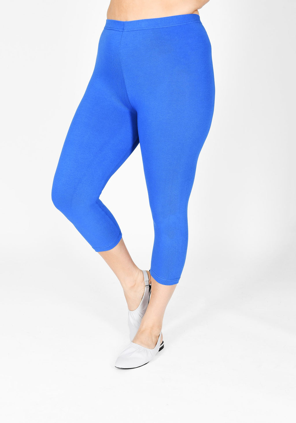 Plus Size True Blue Cropped Leggings 1