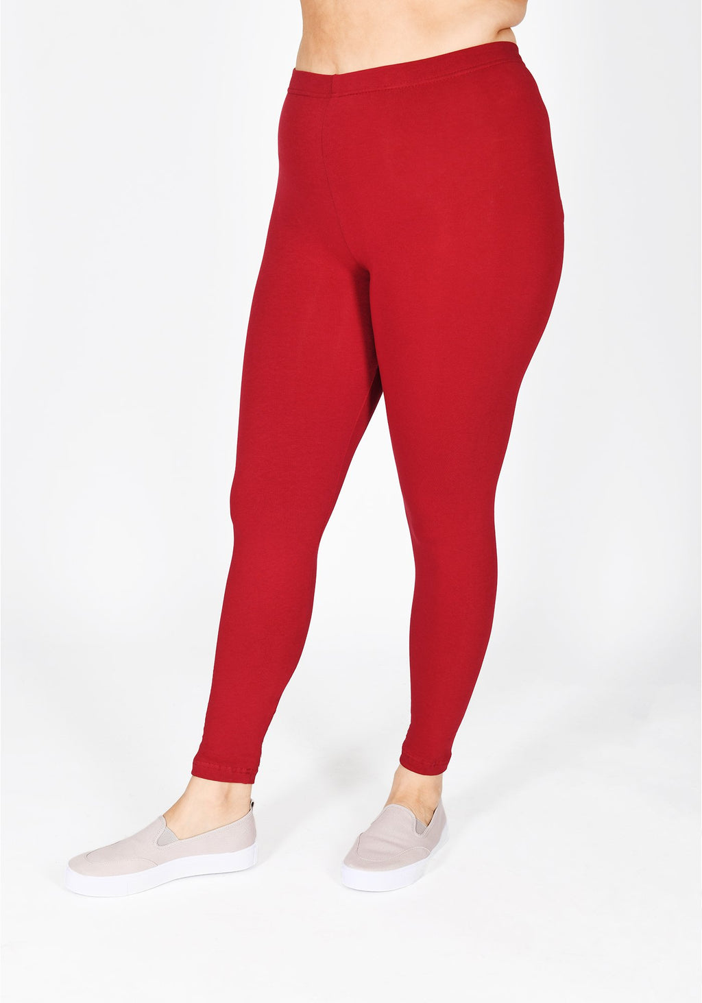Classic Plus Size Red Wine Leggings 1