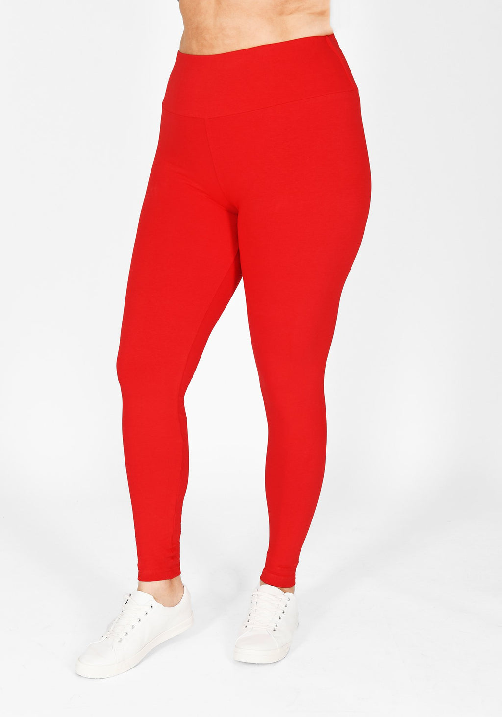 Plus Size Poppy Red High Waisted Leggings 1