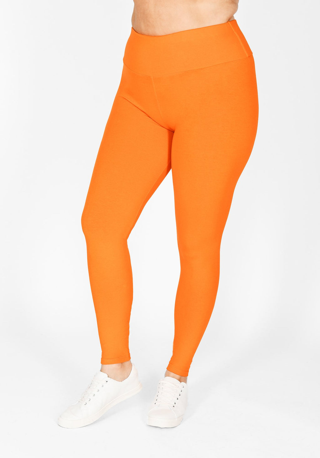 Plus Size Tiger Orange High Waisted Leggings 1