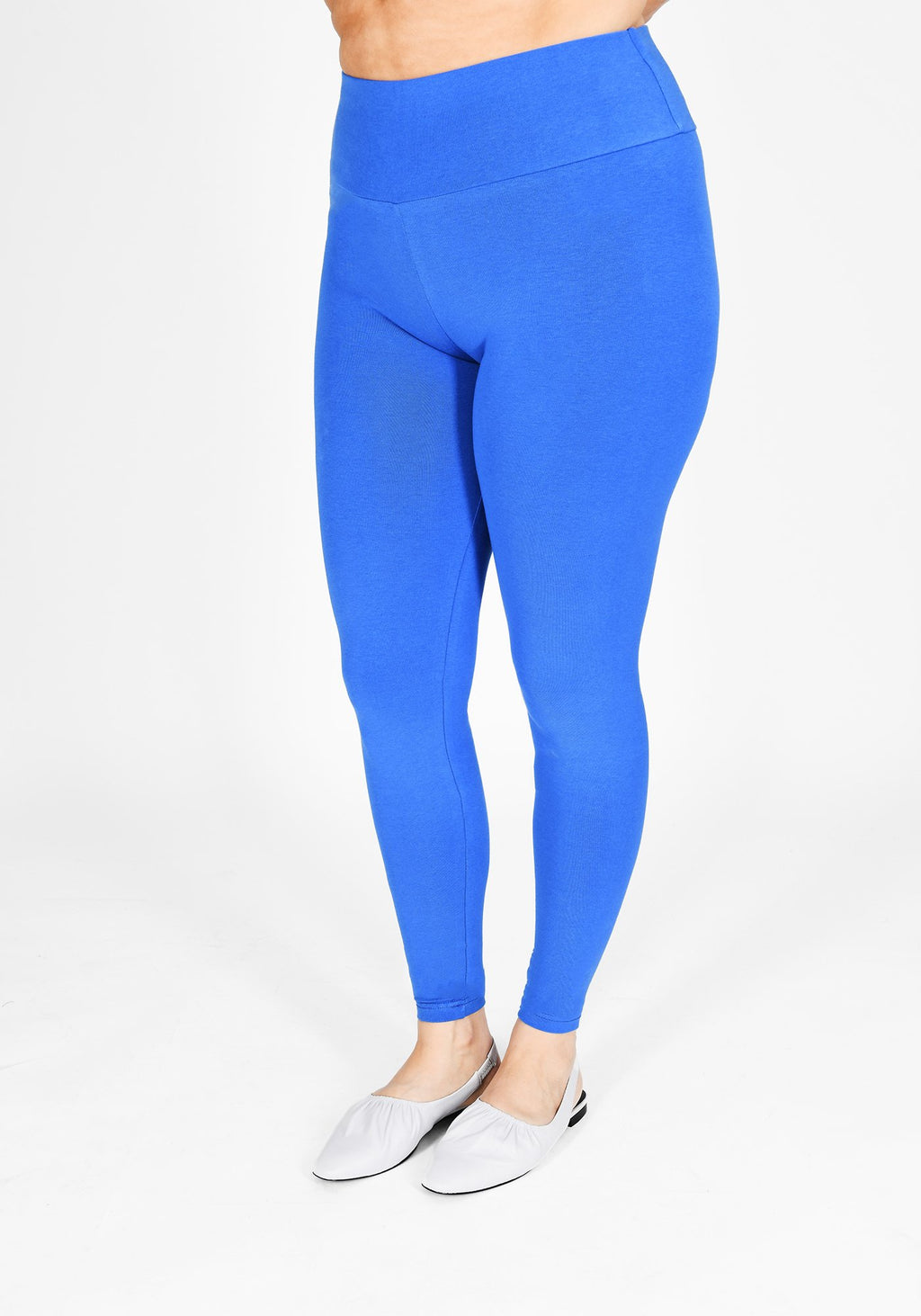 Plus Size True Blue High Waisted Leggings 1