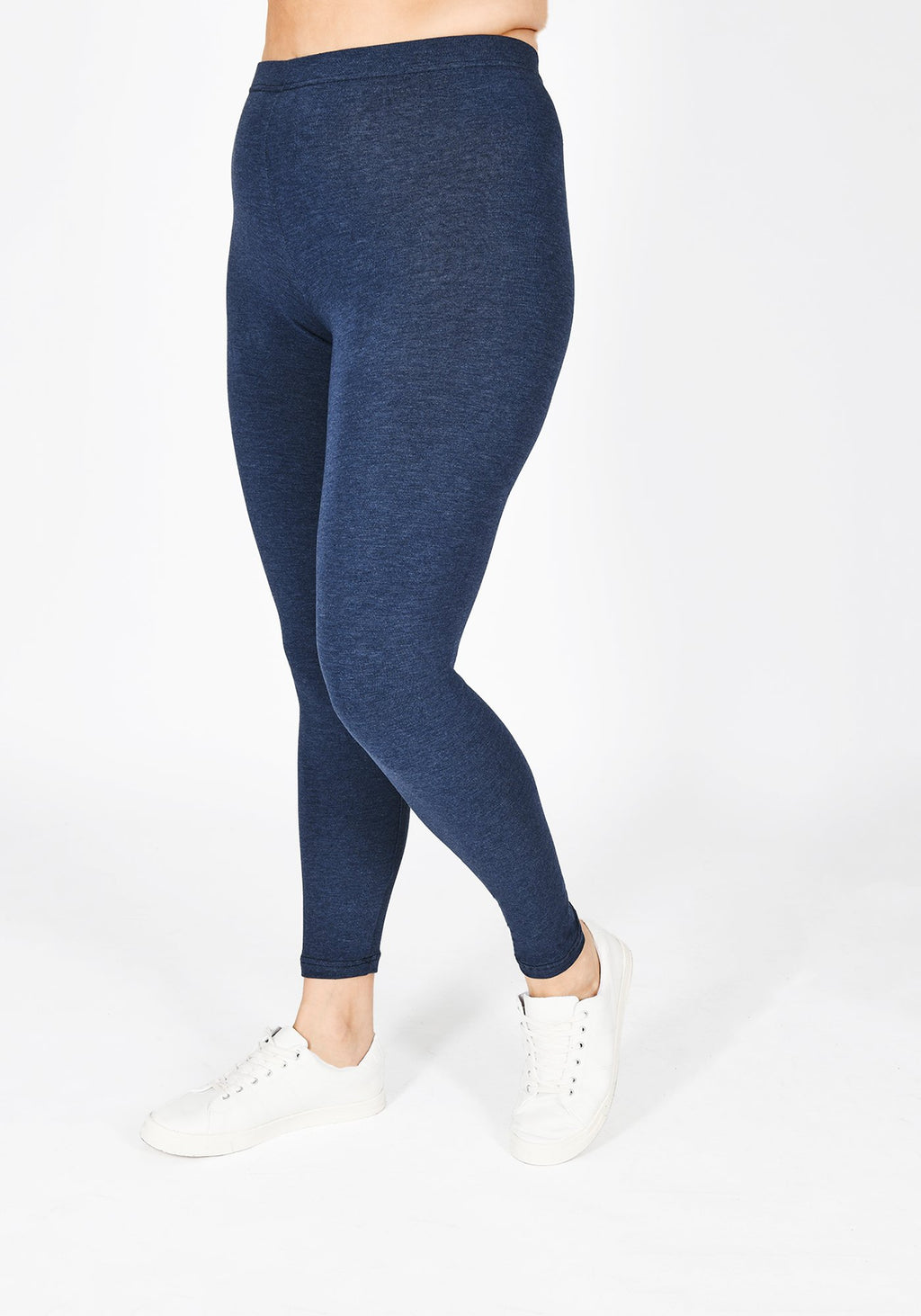 Classic Plus Size Infinity Blue Marl Leggings 1