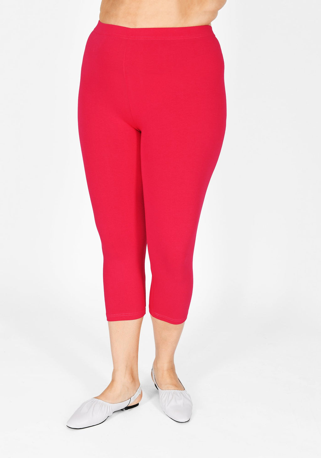 Plus Size Intense Pink Cropped Leggings 1