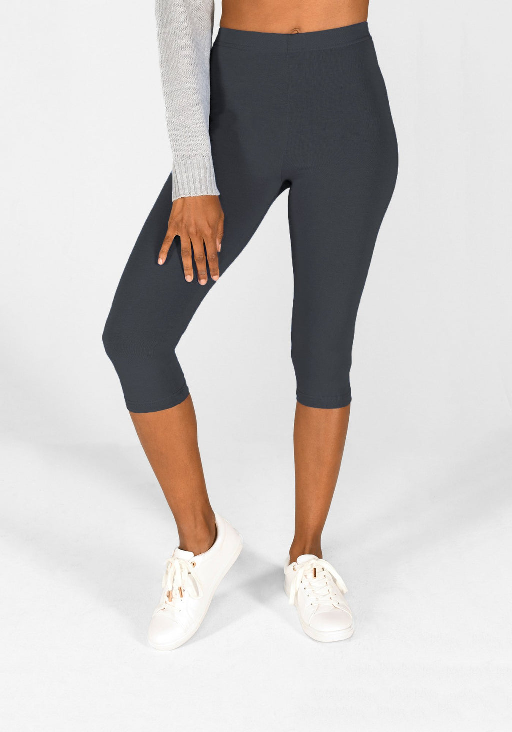 Odyssey Grey Cropped Leggings