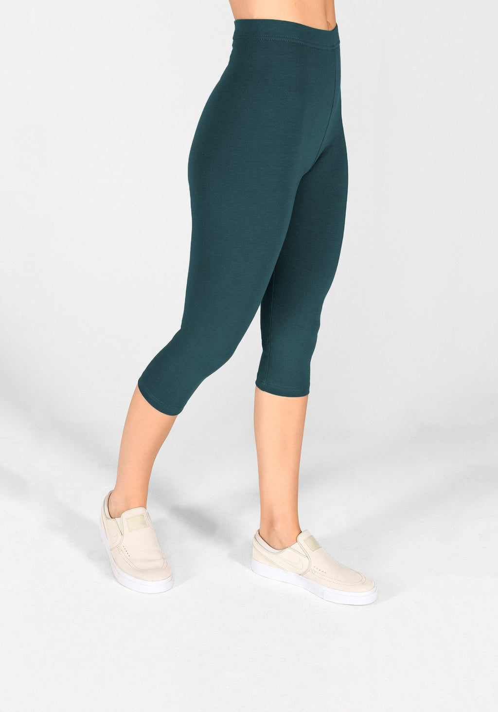 Petrol Blue Cropped Leggings