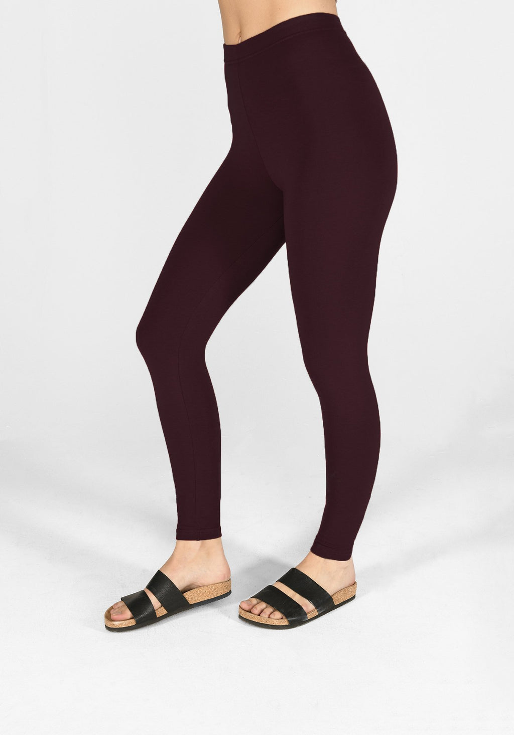 Classic Burgundy Leggings