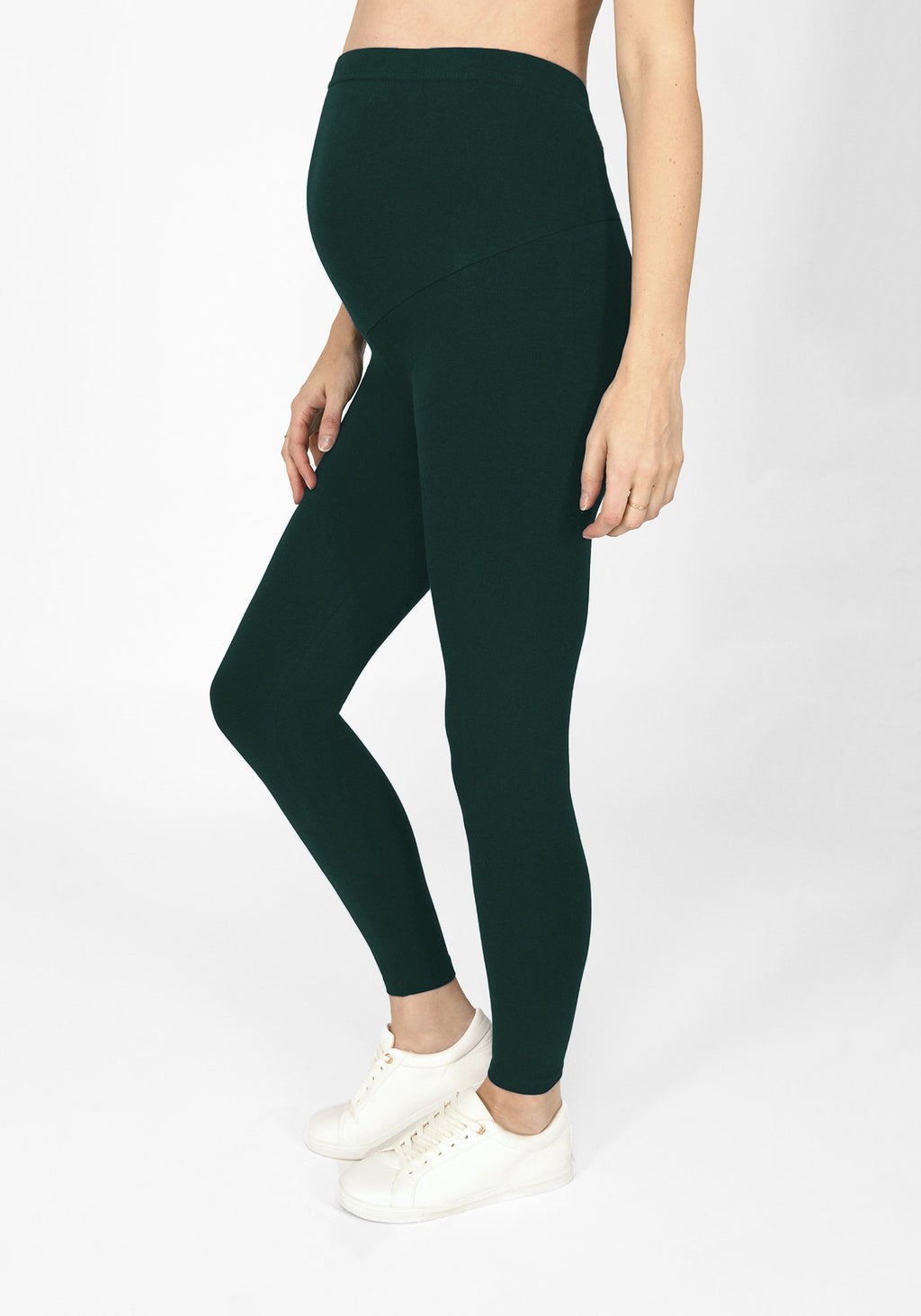 Forest Green Full Length Maternity Leggings