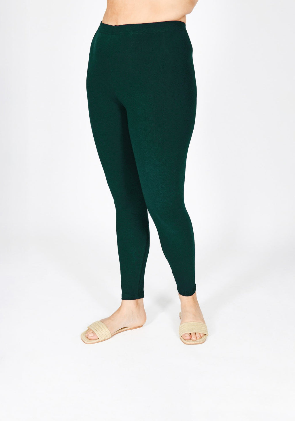 Classic Plus Size Forest Green Leggings