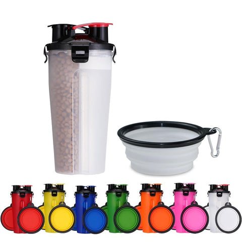 Portable water bottle & food container