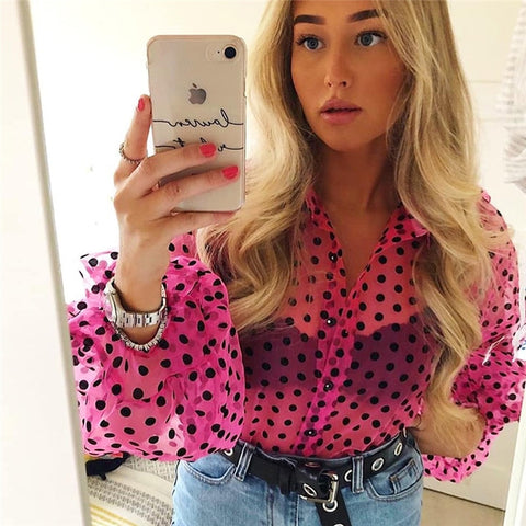 Pink & pois perfect blouse