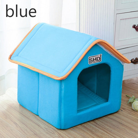 Blue stylish house for pets
