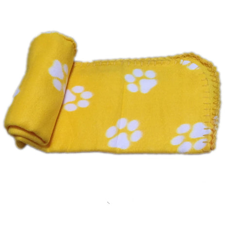 Yellow dog & cat blanket