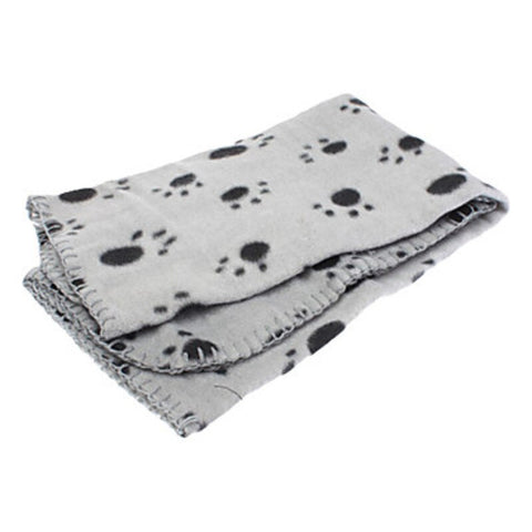 "Blue&grey ""paw"" dog & cat blanket"