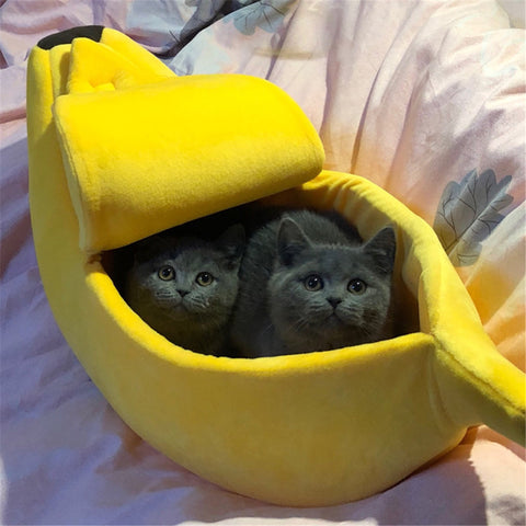 Banana house for cat