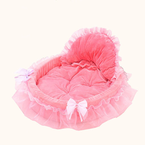 Shabby princess dog & cat soft bed