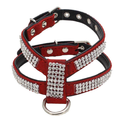Red rafined dog & cat harness