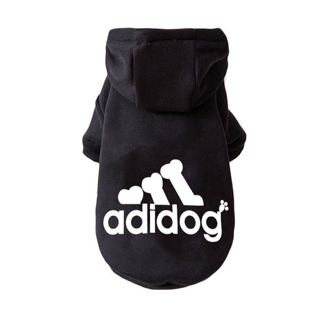 Black fashion dog hoodie
