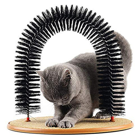 Comfortable brush cat massager