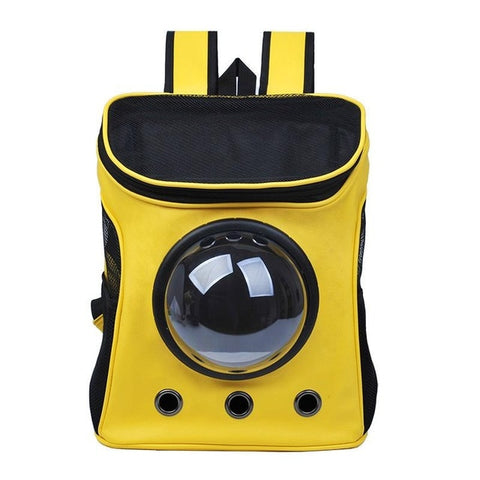 Yellow astronaut backpack for pets