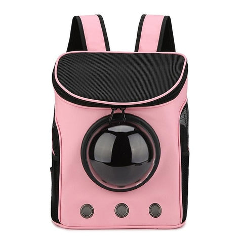 Pink astronaut backpack for pets