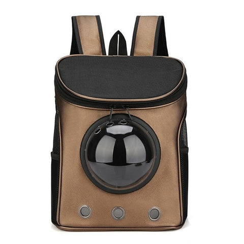 Brown astronaut backpack for pets