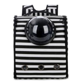 Zebra & all black astronaut backpack for pets