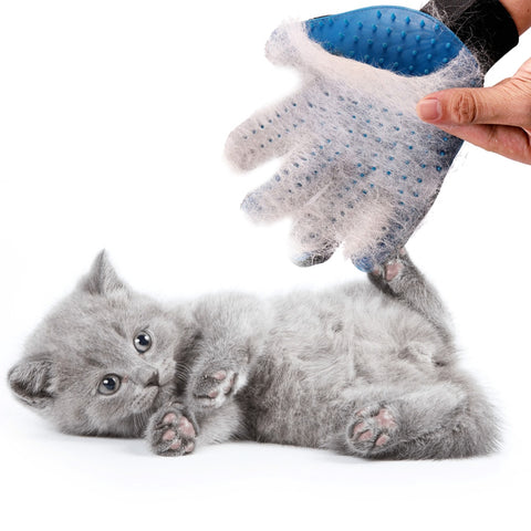 Silicone glove grooming for pets